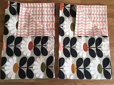 Orla Kiely Wild Daisy Tiny Stem Pink Housewife Reversible Pillowcases Cotton New • 39.99£