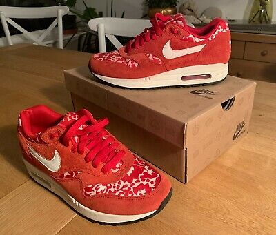 WMNS Nike Air Max 1 87s Sport Red Liberty Print UK5.5, EUR39, US8, Worn Once! • 65£
