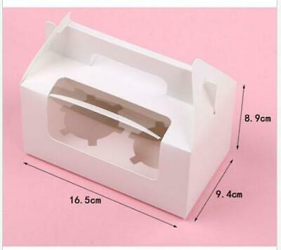 AU14.36 • Buy Cupcake Box Cases 1 Hole 2 Hole 4 Hole 6 Hole 12 Hole Window Face Gift AU