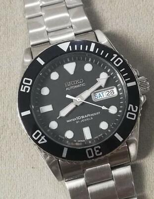 $ CDN580.93 • Buy Seiko SKX031J Day Date 21 Jewels Submariner SS Automatic Mens Watch Auth Works