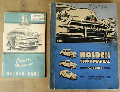 AU99.99 • Buy GLOVEBOX + WORKSHOP MANUALS For VINTAGE FJ HOLDEN SEDAN UTE VAN SPECIAL NASCO