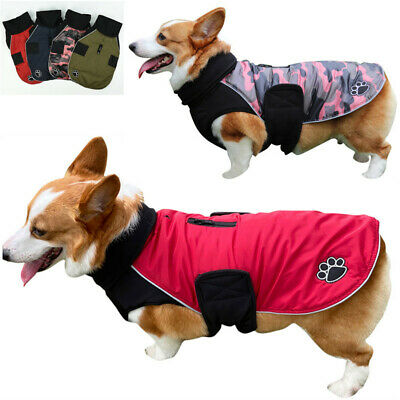 Waterproof Warm Winter Dog Coat Clothes Cute Padded Fleece Pet Puppy Vest Jacket • 14.70£