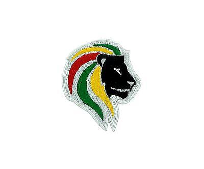 Patch Embroidered Rasta Backpack Lion Ethiopia Rastafarai Love Reggae • 2.74£