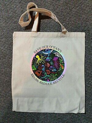 £5.99 • Buy Save Our Oceans Tote Bag (supports WWF Charity) Bag For Life