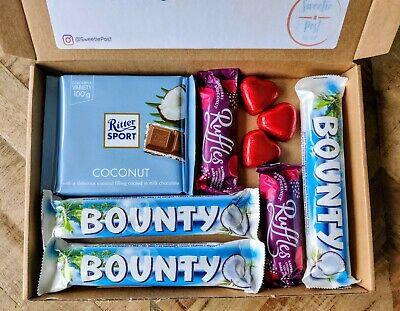 Coconut Mothers Day Chocolate Bounty Gift Box Dairy Milk Coconut Hamper Present • 10.99£