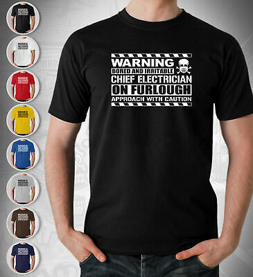 £12.99 • Buy Chief Electrician T Shirt Gift Theatre On Furlough