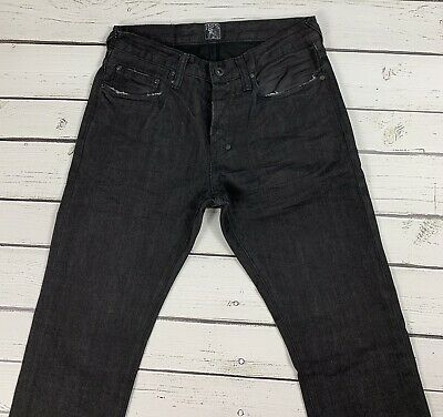 PRPS Demon Fit Black Distressed Slim Fit Jeans Size 30  Waist & 33  Length • 79.95£