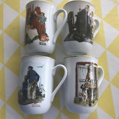 $ CDN21.25 • Buy Norman Rockwell Collectible Mugs 1985 - Set Of Four