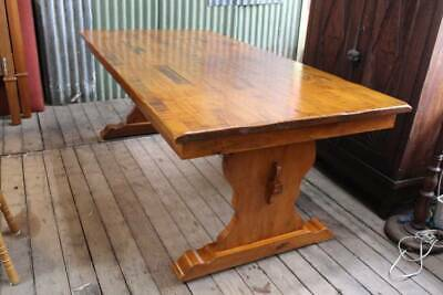 AU895 • Buy A Vintage French Distressed Refectory Dining Table 2.1m
