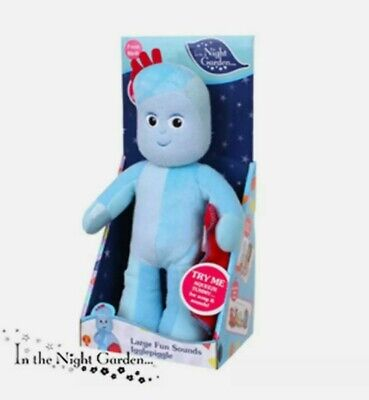 IN THE NIGHT GARDEN Large Iggle Piggle Fun Sounds Soft Toy *NEW* • 18.50£