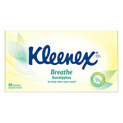 AU4.69 • Buy NEW Kleenex Eucalyptus & Aloe Vera Facial Tissues - 95 Pack