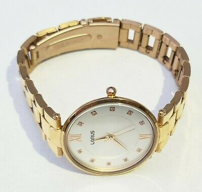 £15.99 • Buy Lorus (By Seiko) Ladies V501-X473 White Dial Watch In Gold