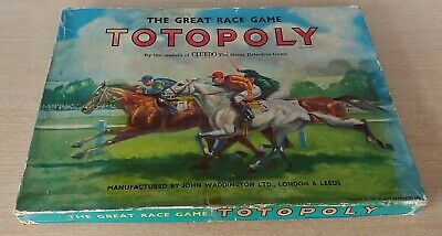 £24.99 • Buy Vintage Totopoly, Horse Racing, Boxed & Complete, Waddington 1949
