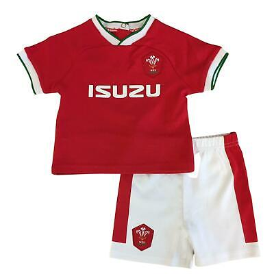 £15.99 • Buy Wales WRU Rugby Baby/Toddler Home T-shirt & Shorts Set   Red   2021