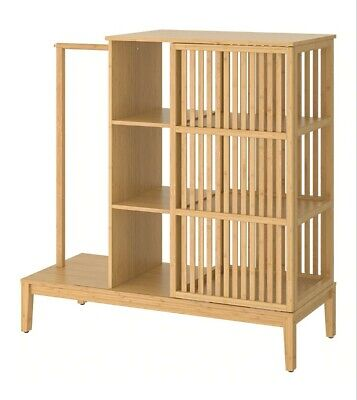 Ikea Nordkisa Open Wardrobe Bamboo Japan/ Scandi On Trend Sold Out Collect Lincs • 155£