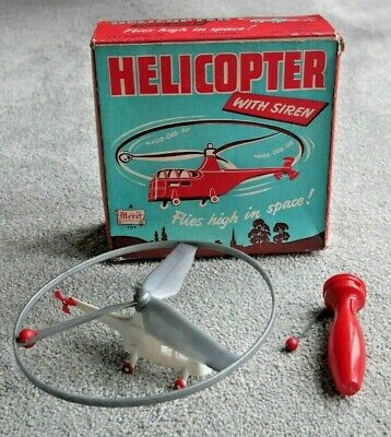 Vintage Merit Helicopter With Siren Toy 1950's Rare Boxed Made In England  I795 • 69.95£