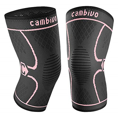 $12.79 • Buy CAMBIVO 2 Pack Knee Brace, Knee Compression Sleeve Support For Running, ACL, And