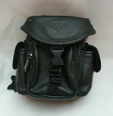 £17.99 • Buy Black Antler Real Leather Camera / Camcorder Bag/Case With Pockets Ex Condition