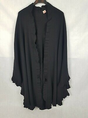N.Peal Burlington Arcade 100% Cashmere Stole Shawl Wrap Around Ruffle Trim • 350£