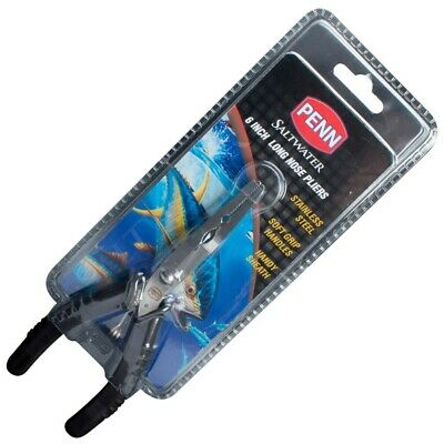 AU18.95 • Buy Penn 6 Inch Long Nose Stainless Steel Fishing Pliers With Sheath