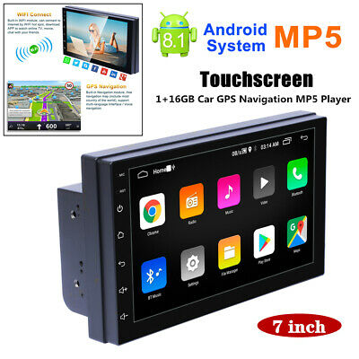 $91.79 • Buy 7'' Screen Car Android 8.1 GPS Navigation USB Radio FM MP5 Player IOS/Android