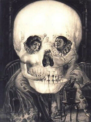 £7.95 • Buy Framed Print - Salvador Dali Gothic Skull (Painting Picture Poster Goth Art)
