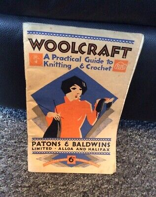 Vintage Woolcraft Knitting And Crochet Guide Patons And Baldwins • 5£
