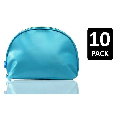 £7.99 • Buy 10 X Scholl Wash Bag Cosmetic Make Up Travel Velvet Smooth Pedi Foot Care Blue