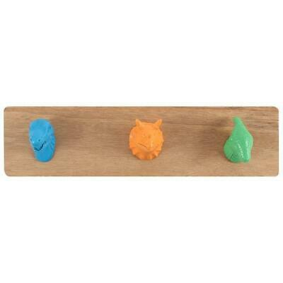 Dinosaur Coat Rack With Three Hooks - Ideal For A Boy's Bedroom! • 17.99£