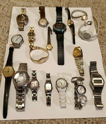$ CDN37.89 • Buy Vintage Watch Lot Working Fossil Seiko Timex Lot Of 18 Some Rares