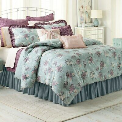 $ CDN227.87 • Buy Lauren Conrad LC 3 Pc Comforter Set Full Queen   - BOUQUET FLORAL NEW Shams