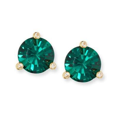 $ CDN29.33 • Buy NWT Kate Spade Rise And Shine Round Stud Earrings Emerald Green Gold