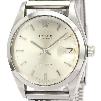$ CDN2504.35 • Buy Vintage ROLEX Oyster Date Precision 6694 Steel Hand Winding Mens Watch BF525094