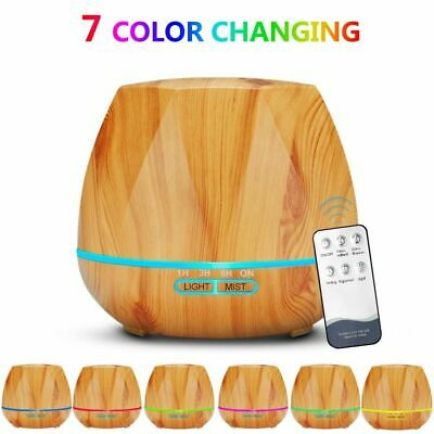AU71.08 • Buy Air Humidifier Essential Oil Diffuser With Remote Control LED For Aromatherapy