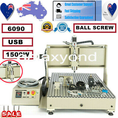 AU2918.03 • Buy 1500w 4 Axis USB CNC 6090 Router Engraving Machine&Linear Guide For Metal Copper