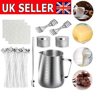 550ML Candle Making Craft Tool Set Pouring Melting Pot Candles Wicks Wax UK • 15.99£