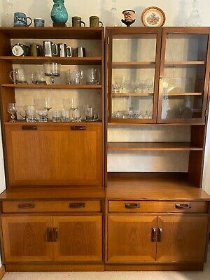 G Plan Sierra Teak Wall Unit 1960's With Display Cabinet And Drinks Cabinet  • 50£