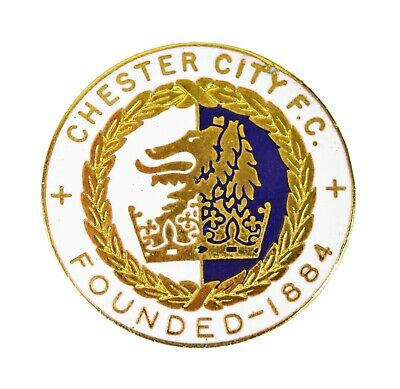 £9.50 • Buy Vintage Chester City FC Football Club Supporters Enamel Badge Brooch