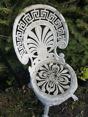 2 X  Vintage Garden French Style Furniture Metal Patio Cast Iron  Chair  Light • 55.99£