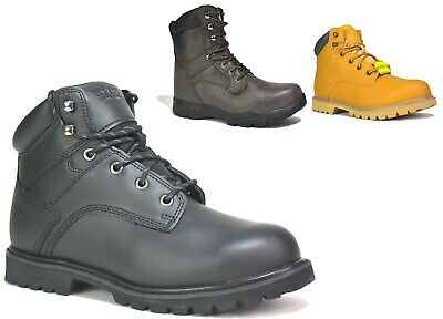 £16.99 • Buy Mens New Steel Toe Cap Military Army Work Ankle Combat Safety Boot Uk Sizes 6-12