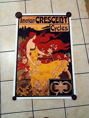 American Crescent Vintage Bicycle Poster Print By Ramsdell - Cycling • 10£