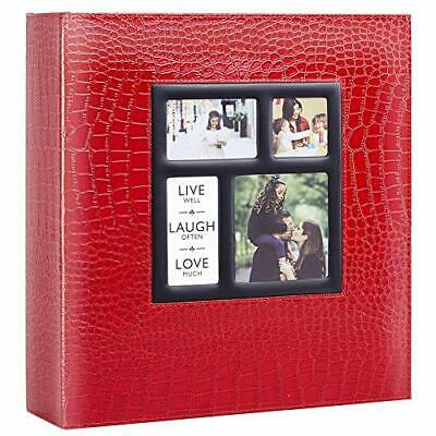 Ywlake Photo Album 1000 Pockets 6x4 Photos Croco, Extra Large Size Leather Cover • 35.99£