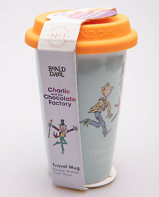 £10.50 • Buy Charlie And The Chocolate Factory Travel Ceramic Mug With Embossed Lid