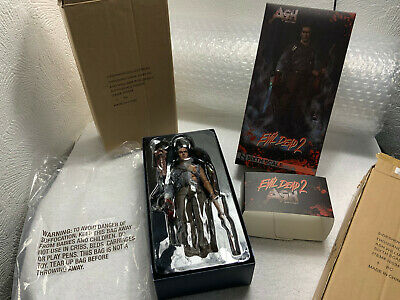 Sideshow Ash Williams Evil Dead 2 1/6 Horror Action Figure Hot Toys UK • 380£