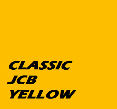 CLASSIC JCB YELLOW PAINT Machinery Tractor 1ltr Of Enamel Paint Brush / Spray On • 17.95£