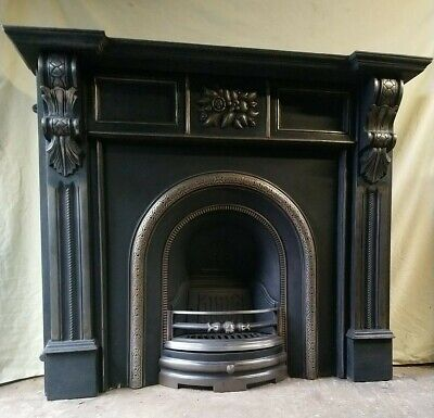 Victorian Style Reproduction Cast Iron Fireplace And Surround • 350£