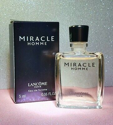 Lancome Miracle Homme 5ml Miniature EDT Mens Fragrance Boxed Used • 11.45£