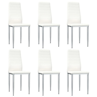 AU316.44 • Buy Dining Chairs 6 Pcs White Faux Leather