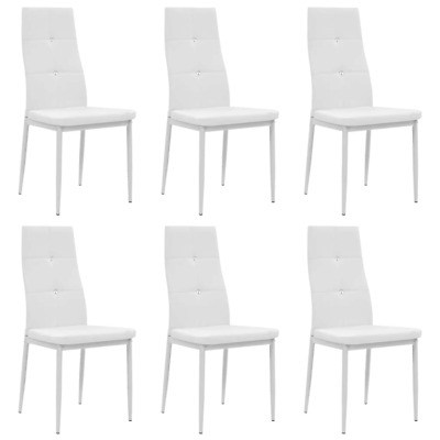 AU302.40 • Buy Dining Chairs 6 Pcs White Faux Leather