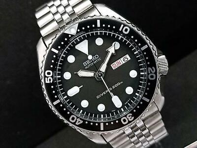 $ CDN582.13 • Buy Seiko SKX007K2 Diver Modified 7S26-0020 Black Boy Day Date Automatic Mens Watch
